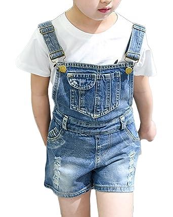 best loved 32af3 810fb GladiolusA GladiolusA Kinder Mädchen Denim Overall Jeans ...