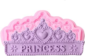 SaSa Design Princess Crown Silicone Mold,Soap Clay Fimo Chocolate Sugarcraft Baking Tool DIY Cake Silicone Mold for Baby Shower Party Birthday Party Cake Decoration (Princess Crown Mold)
