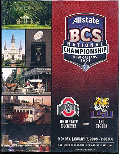 2008 Ohio State vs LSU Football BCS Championship Program nm