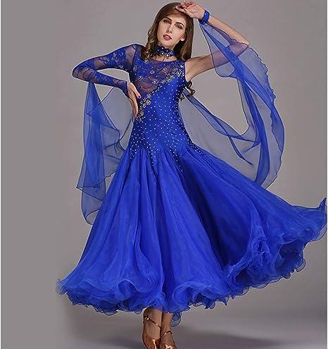 Mujeres Danza Latina Trajes Danza del Vientre Falda Azul Hecho A ...