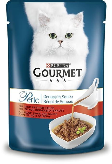 Nestlé Gourmet Perle Disfrutar en Salsas Gato Forro, 24 Unidades (24 x 85 g