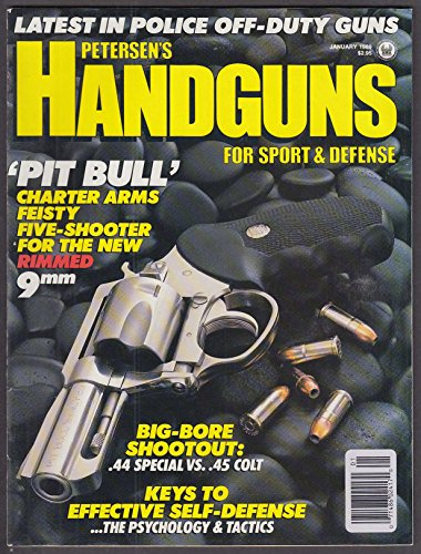 Petersen's HANDGUNS Charter Arms Pit Bull Smith & Wesson L Ruger Davis ++ 1 1989