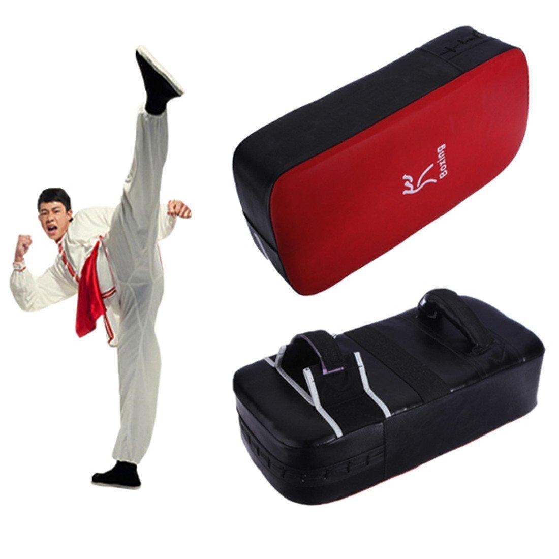 Tykusm karaté Taekwondo boxe Kick Bouclier de frappe (Noir + Rouge)