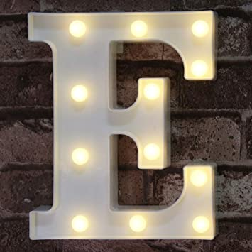 LED Marquee Letter Lights Sign, Light Up Alphabet Letter for Home Party Wedding Decoration E