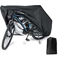BLOODYRIPPA Waterproof Bike Cover with Lock Holes for Outdoor Bicycle Storage, 210T Polyester Taffeta Fabric, PU Coating…