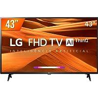 """Smart TV LED 43"""" Full HD LG 43LM 3 HDMI 2 USB Wi-Fi ThinQ Al"""