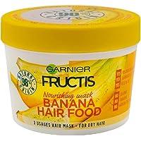 Garnier Fructis Nourishing Hair Repairing Mask Banana Hair Food 3in1 mask for damaged dry hair Vegan formula 390ml