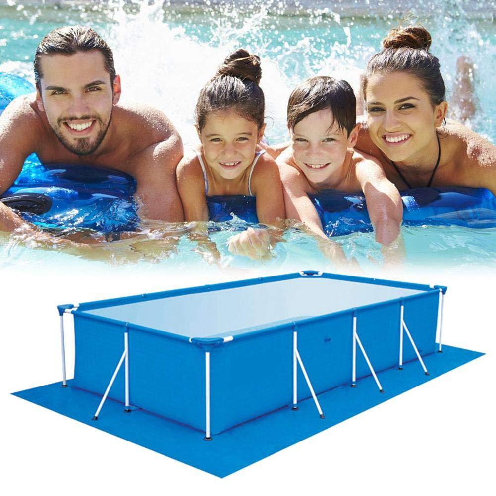 aufblasbare Poolmatte Rechteckiger Poolbodenschutz f/ür Pools /über Grund Quadratisches Poolgrundtuch Leicht zu reinigende Matte
