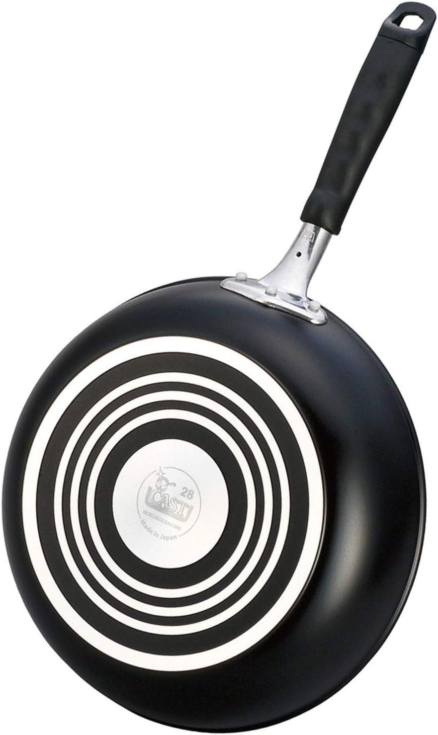 【Amazon.co.jp 限定】BKキャスト フライパン ブラック 28cm テフロン加工 「ガス専用」