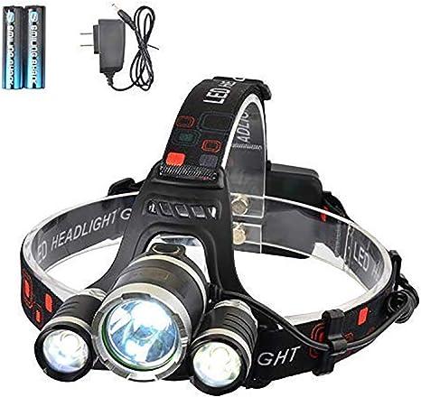 Linterna Frontal Recargable LED Alta Potencia 5000 Lúmenes ...