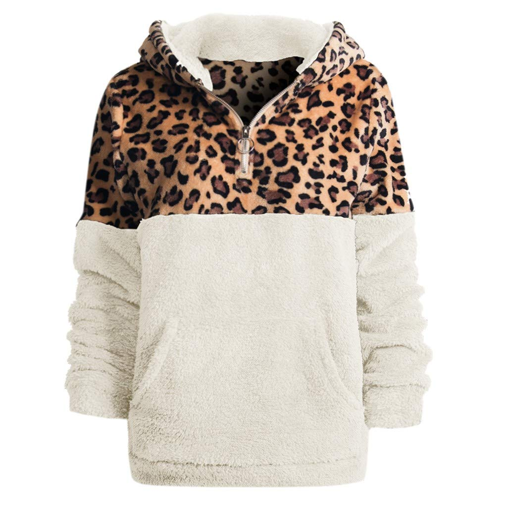 TUU-Fashion Shirt Women Sweater Women Long Sleeve Winter Warm Hoodie Outwear Blouse Sweatshirt Coat White by TUU-Fashion Shirt
