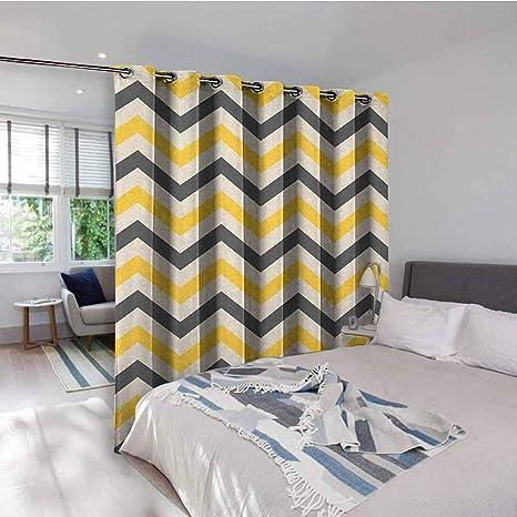 Amazon.com: Yellow Chevron Kitchen Gromets Curtain And ...