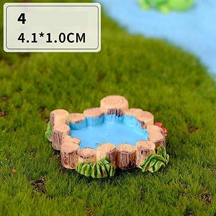 Gbcyp Mini Faro Pozo de Agua Puente Figuras Miniatura Artesanía Hada Jardín Terrario de Musgo Regalo DIY Adorno Decoración de jardín, Piscina: Amazon.es: Hogar
