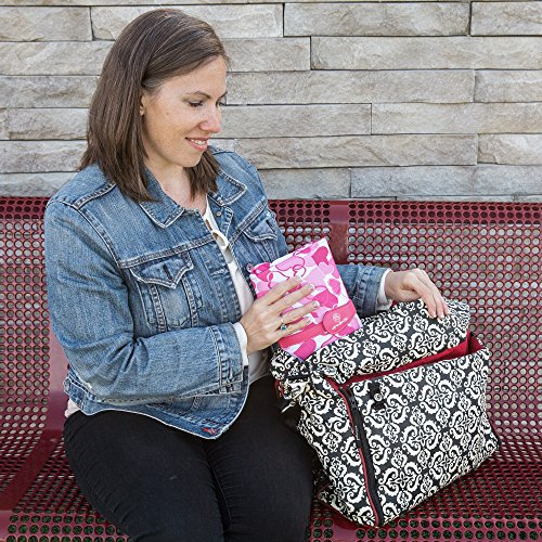 Portable Baby Diaper Clutch Changing Pad Station - Stain-resistant & Waterproof with Wipeable Interior - Complete Travel System with Storage Pockets for Diapers & Wipes
