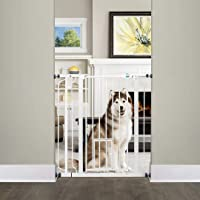 Carlson Extra Tall Walk Through Pet Gate with Small Pet Door, Includes 4-Inch Extension Kit, 4 Pack Pressure Mount Kit…