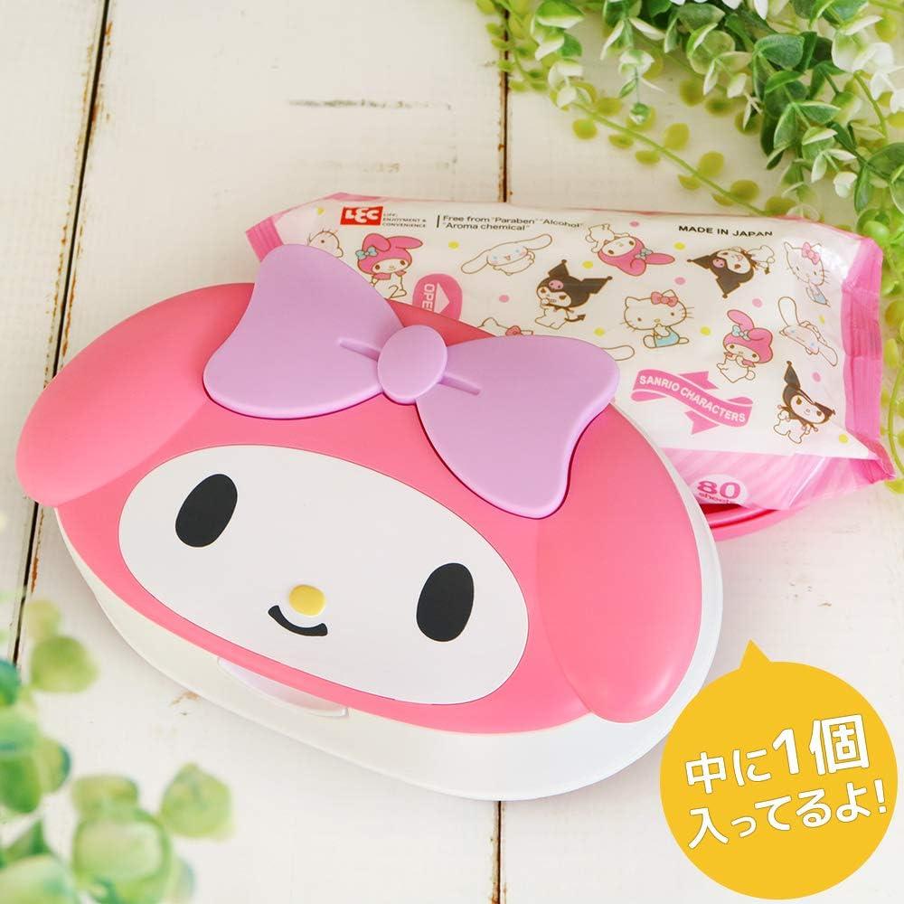 My Melody visage pr/éd/écoup/é 80/pcs Lingettes humides W//Coque Sanrio fabriqu/é au Japon