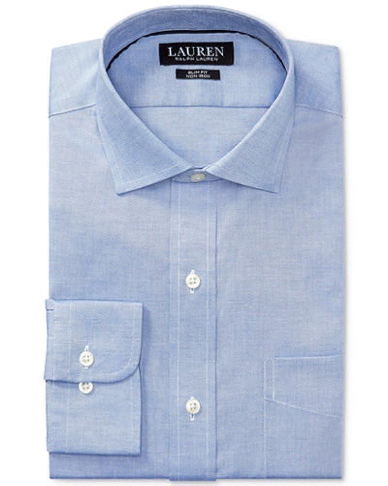 4f4e4419c10 Lauren Ralph Lauren Men s Slim-Fit Non-Iron Pinpoint Dress Shirt at Amazon  Men s Clothing store