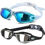 Swimming Goggles Swim Goggles, Pack of 2 - ALLPAIPAI Professional Anti Fog No Leaking UV Protection Wide View Swim…