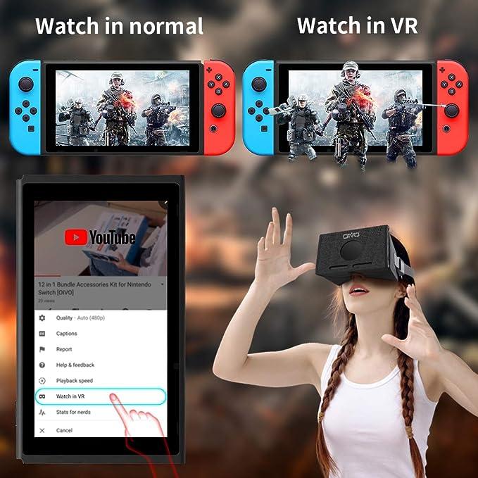 Auriculares VR para Nintendo Switch, OIVO 3D Labo Virtual Reality anteojos para Youtube & Super Smash Bros. & Zelda & Super Mario Odyssey: Amazon.es: Videojuegos
