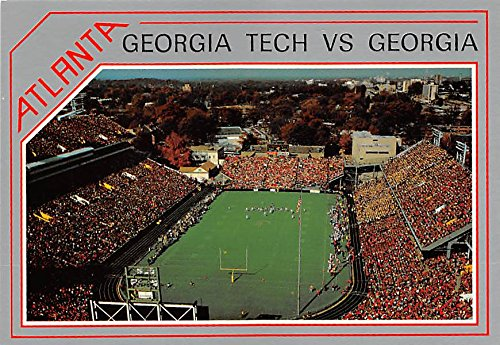 University of Georgia at Grant Field Georgia, GA, USA Old Vintage Football Postcard Post Card