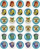 30 x Edible Cupcake Toppers – Harry Potter, Houses of Hogwarts School of Witchcraft and Wizardry Themed Collection of Edible Cake Decorations | Uncut Edible Prints on Wafer Sheet - BUY 2 GET 3RD FREE