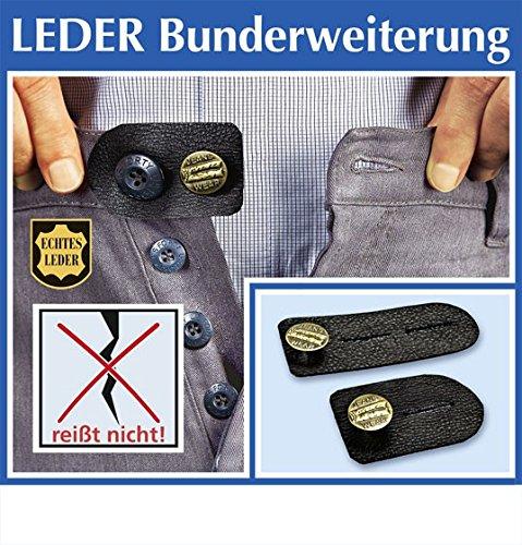 2er Hosenknopfverlängerung Hosenbunderweiterung LEDER f Umstandshose Umstandskleidung Chriluka