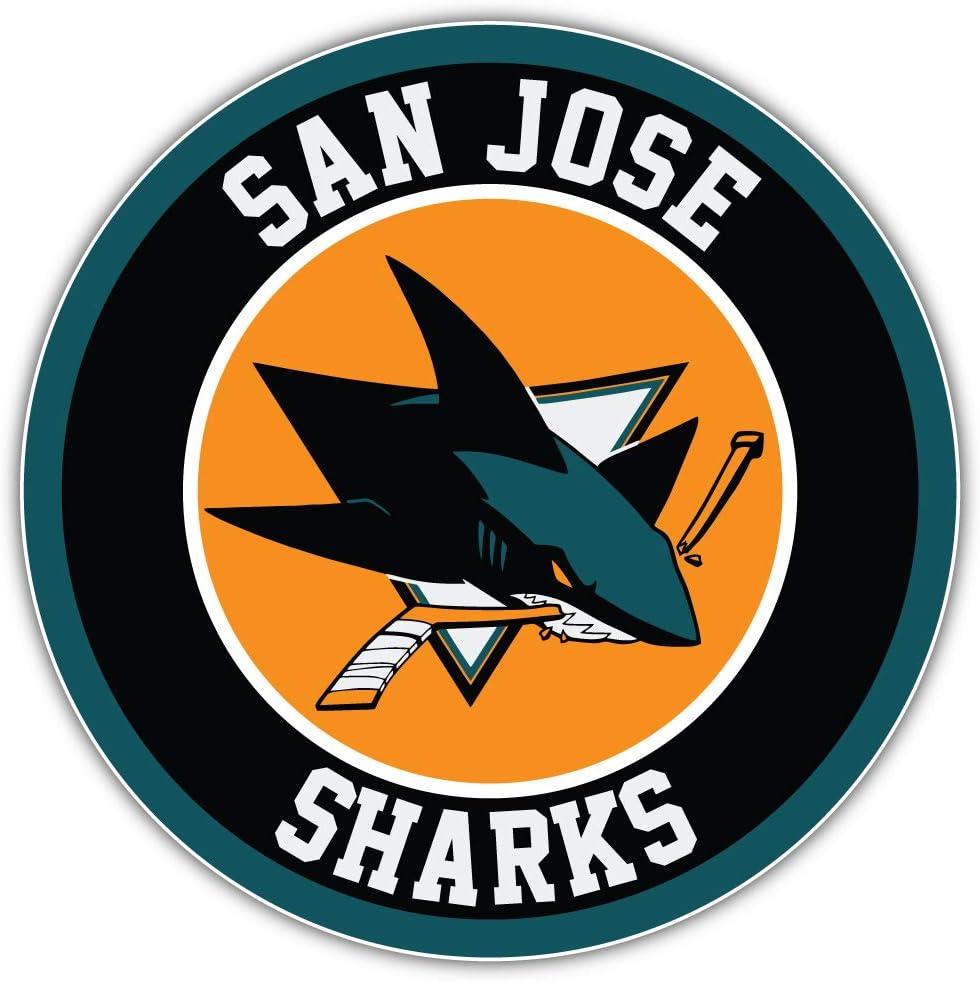 hotprint Sharks Hockey San Jose Logo Sport Car Bumper Sticker Decal 5 X 5