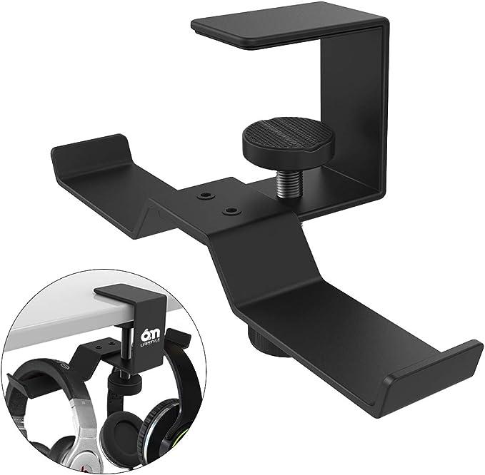 Steel Earphone Headset Headphone Hanger Holder Stand Table Fixed Clamp Clip Kit