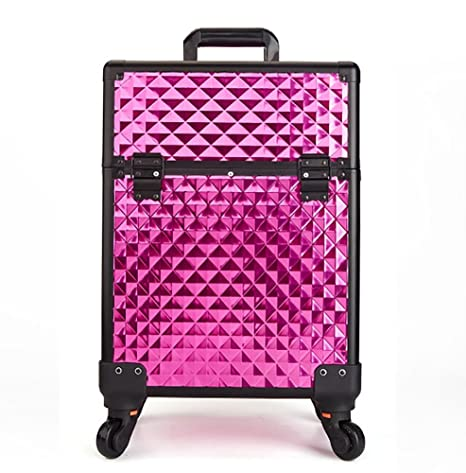 Aluminum Rolling Trolley Cosmetic Cases Nails Makeup Bags Beauty Tool Box Trolley Travel Luggage Cabin Suitcase