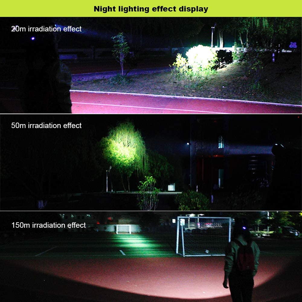 Hiking Running SOS Whistle Boruit B10 LED Micro USB Headlamp 3 ...