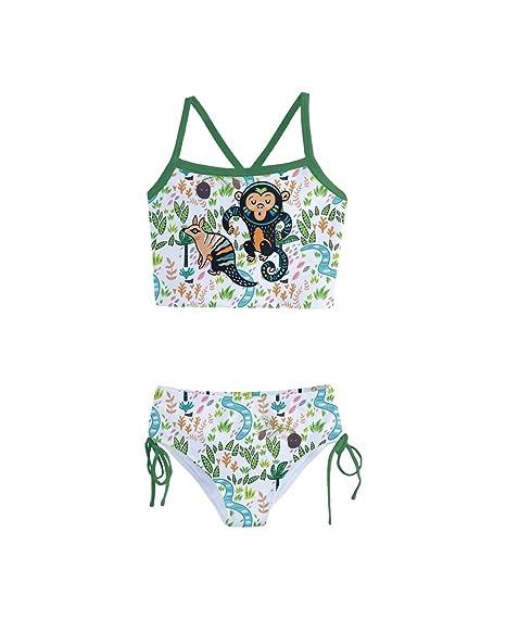 1dc42e6b54 PattyCandy Little Girls Cute Tankini Swimsuit Hand Drawn Animal Theme - 2
