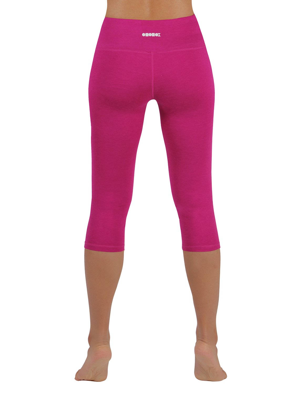 12632574c63057 ODODOS Power Flex Yoga Capris Pants Tummy Control Workout Running 4 Way  Stretch Yoga Capris Leggingss with Hidden Pocket,Fuchsia,Medium