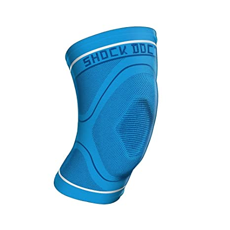 8071c8dc03 Shock Doctor Compression Knit Knee Sleeve w/ Gel Support, No Latex, Blue or
