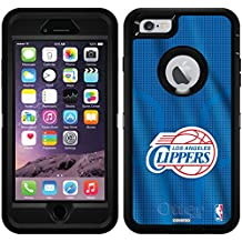 La Clippers - Jersey design on Black OtterBox Defender Series Case for iPhone 6 Plus and iPhone 6s Plus