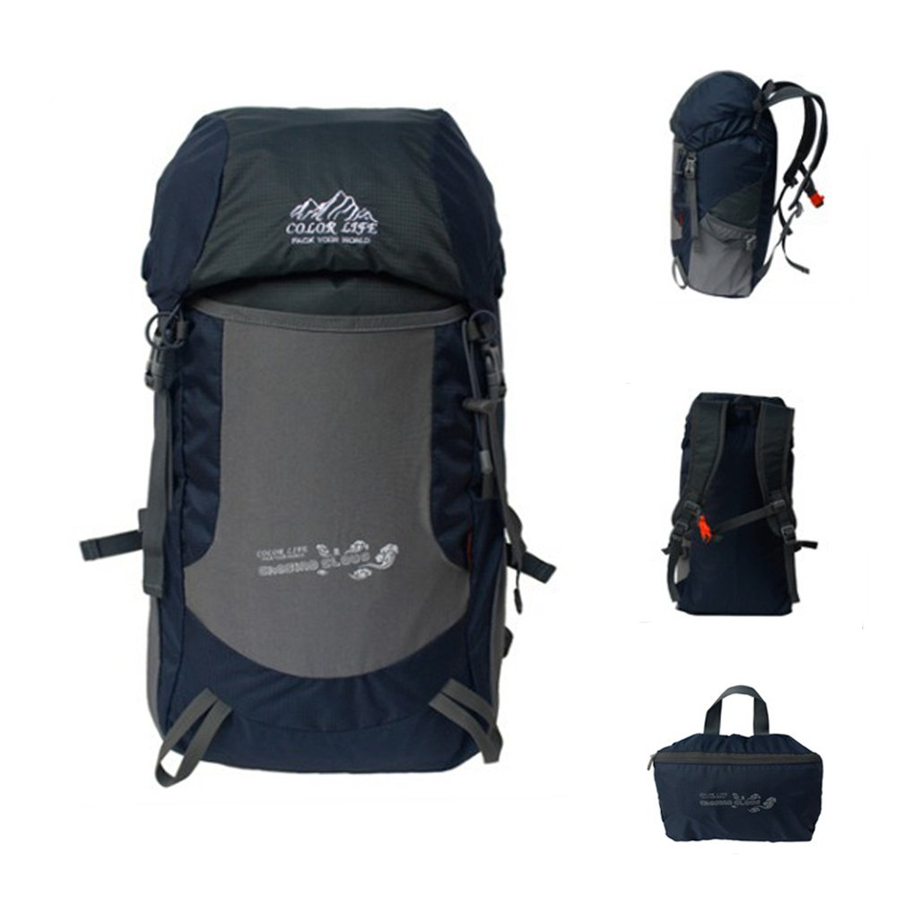 Idea Life Most Durable Packable Ultraに軽量ハイキングバックパック30l  Navy B00XWC9Y5U