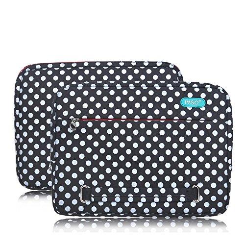 IVSO Hohe Qualität Water-resistant Neoprene Laptop Sleeve Hülle Case Folio Tasche Cover- Grösse 9.7-10.1 Zoll (25.6-26.67cm) für Tablet PC, Convertible Notebook,Laptop, Schwarz