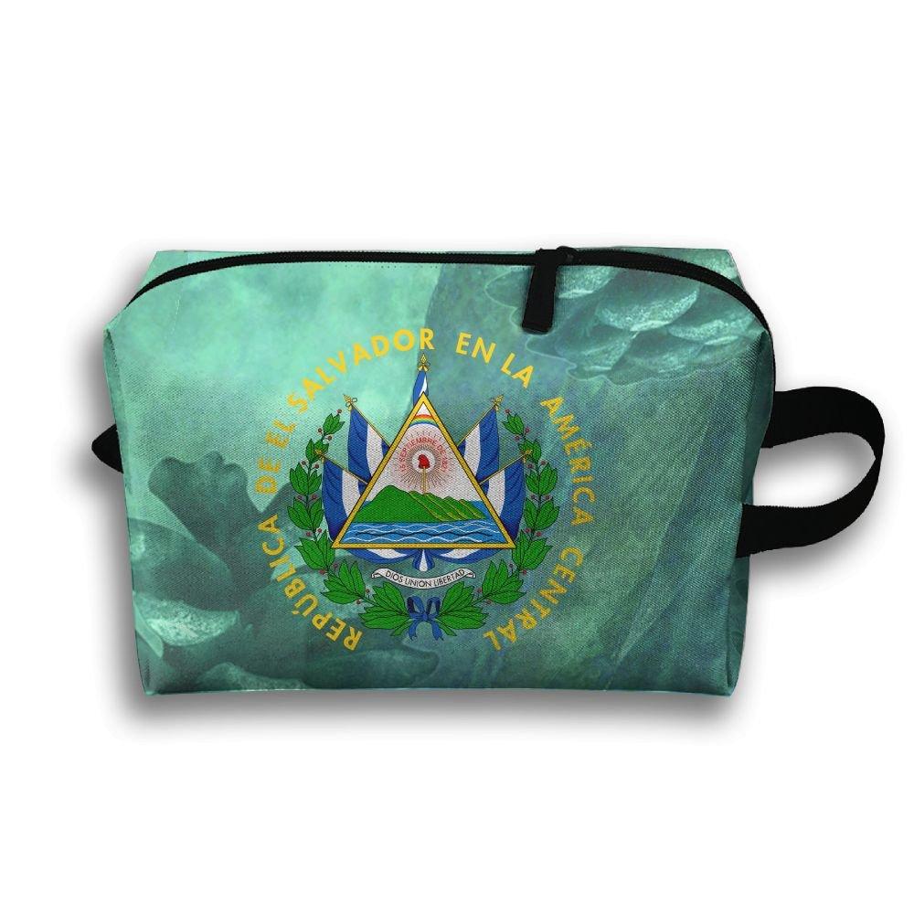El Salvador Coat Of Arms Travel Bag Multifunction Portable Toiletry Bag Organizer Storage