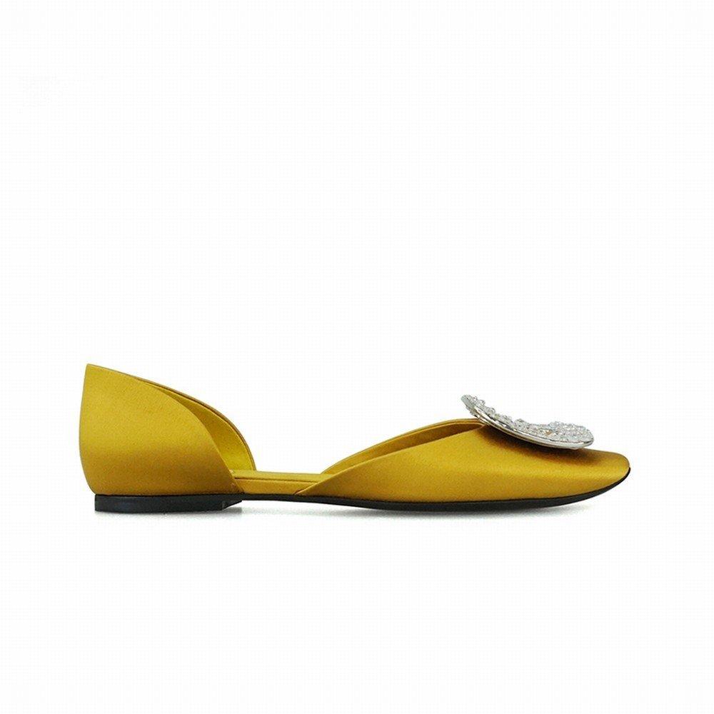 DHG Flache Flache Flache DHG Schuhe des Flachen Munds des Wilden Hohlen Diamantwölbungs-Temperaments Runden Mund Ein 37 addd3e