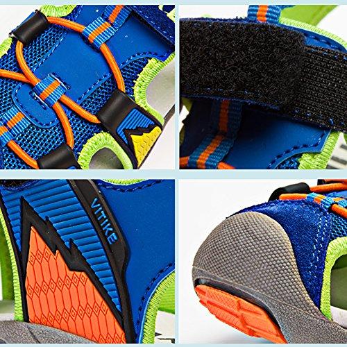VITIKE Zapatillas de Deporte Al Aire Libre Sandalias del Niño de Verano Playa Piscina Las Zapatillas de Deporte Azul3