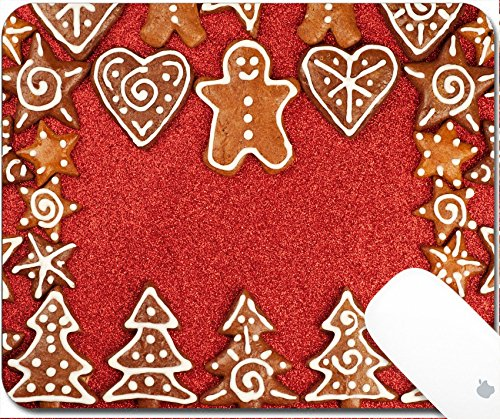 Luxlady Gaming Mousepad 9.25in X 7.25in IMAGE: 24873738 Homebaked Christmas Gingerbread Cookies border - Border Bread