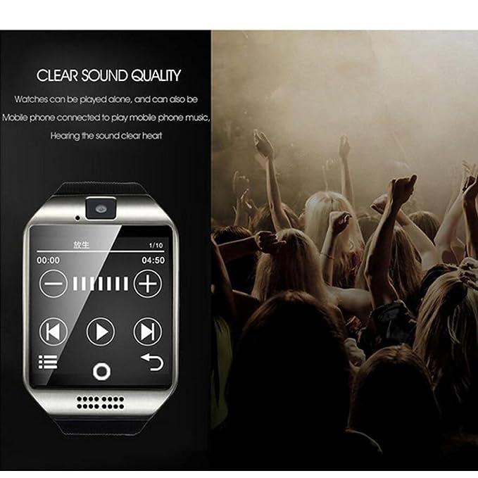 FLy Reloj Inteligente Sim Se Puede Insertar En La Tarjeta AliExpress Amazon Modelos De Explosión Bluetooth iOS Android Reloj Inteligente (Color : Negro): ...