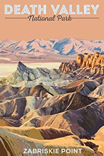 product image for Death Valley National Park, California, Zabriskie Point 88460 (12x18 SIGNED Print Master Art Print, Wall Decor Poster)