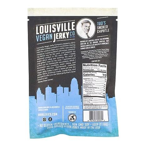 Louisville Vegano Jerky – ahumado Chipotle: Amazon.com ...