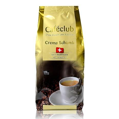 Beans Cafeclub super crema Suiza Schümli Café 1kg Cafeteras