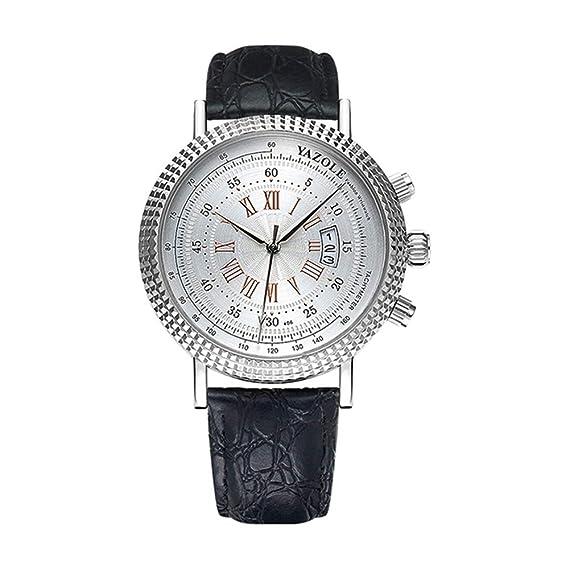 HWCOO Hermoso Relojes de Pulsera 406 YAZOLE Reloj de Cuarzo Reloj de los Hombres Reloj de los Hombres (Color : 2): Amazon.es: Relojes