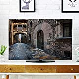 quarter round cord cover - Leighhome Cover for Wall Mount tv Quarter and Bridge inish Streets Heritage The Past Grey Cover Mount tv W35 x H55 INCH/TV 60