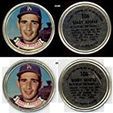 1964 Topps Metal Coins (Baseball) Card# 106 Sandy Koufax of the Los Angeles Dodgers VG Condition