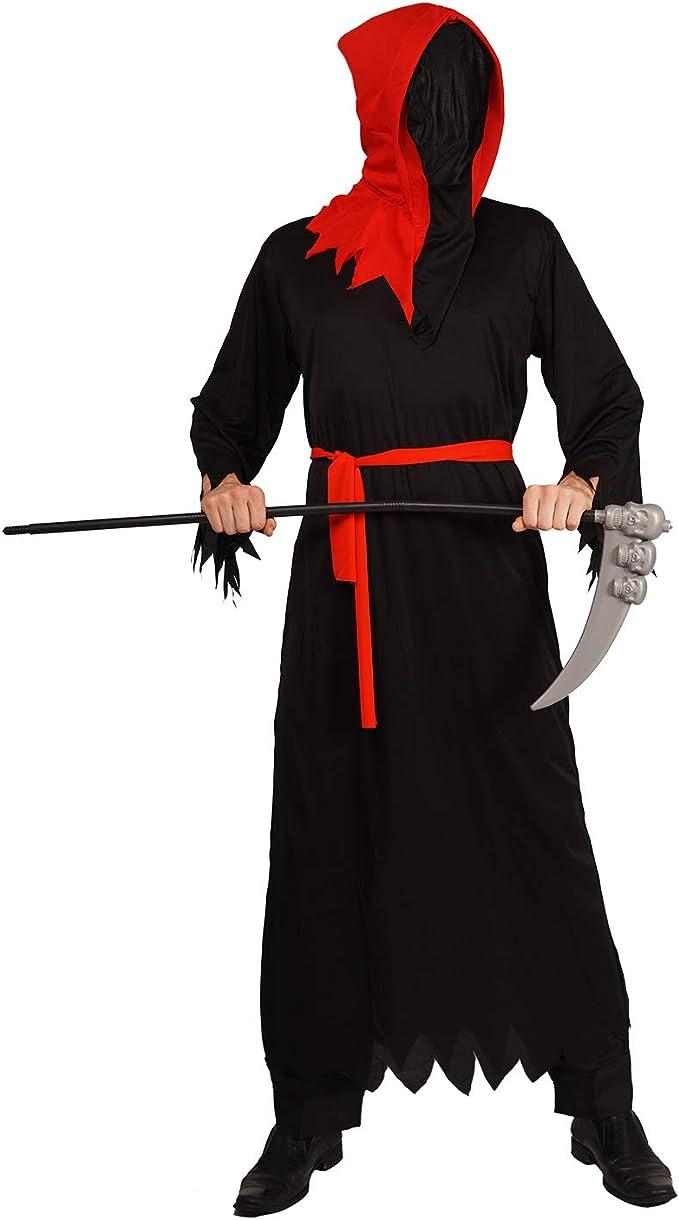 FANCY DRESS HALLOWEEN GRIM REAPER DEATH ROBE W// MIRRORED MASK INCLUDED-ONE SIZE