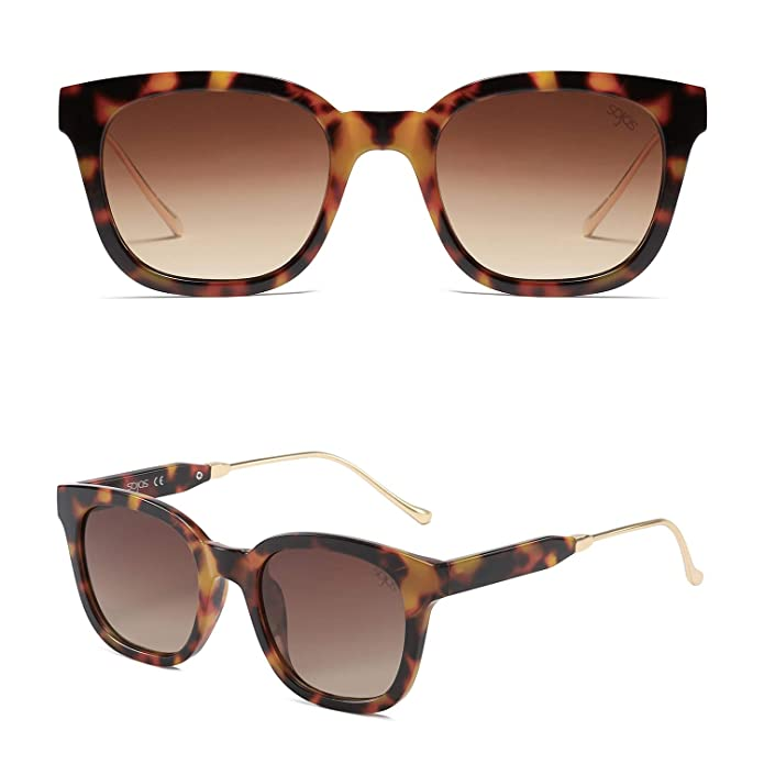 9f69f6c4bf7 Amazon.com  SOJOS Classic Polarized Sunglasses for Women Men Mirrored Lens  SJ2050 with Tortoise Frame Brown Polarized Lens  Shoes