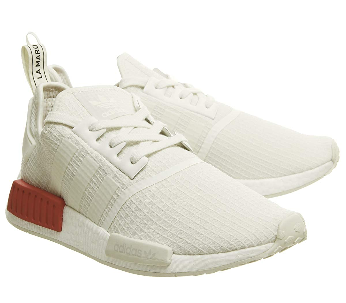 adidas NMD_r1, Derbys Homme Off White-off White-lush Red (B37619)